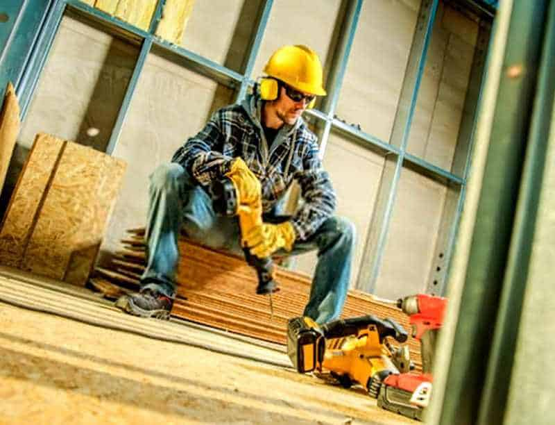 Construction work with Reciprocating Saw
