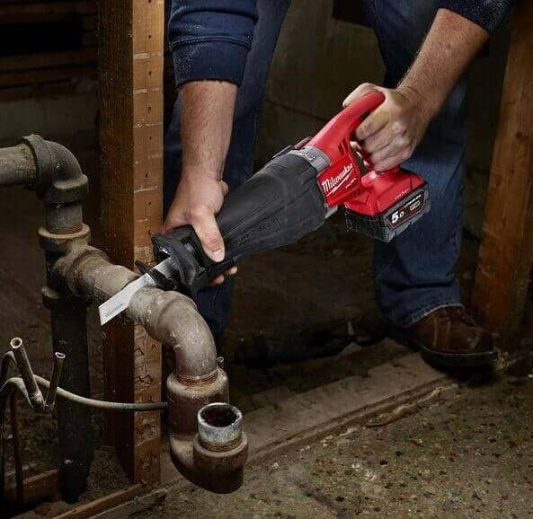 plumbing by a Reciprocating Saw