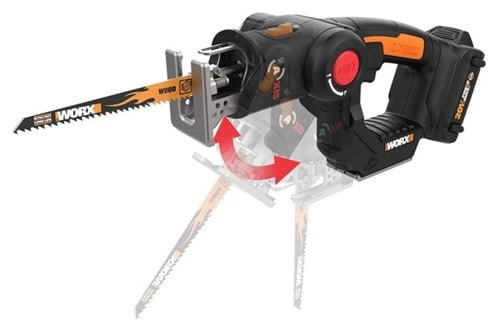 WORX WX550L 20V AXIS 2-in-1 Reciprocating Saw and Jigsaw with Orbital Mode