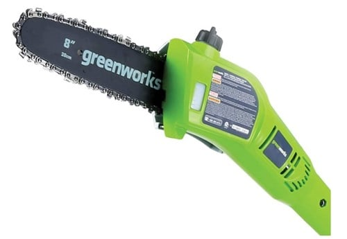 Greenworks PSPH40B210 Cordless Pole Saw with Hedge Trimmer