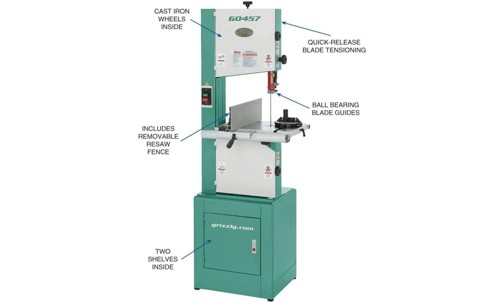 Grizzly G0457 14″ Deluxe Bandsaw