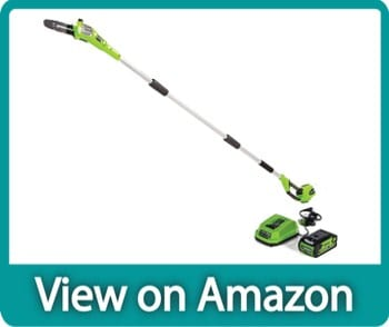 Greenworks 20672 40v 8-Inch Battery Powered Cordless Pole Saw