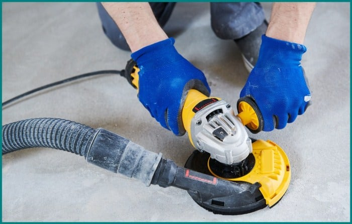 Grinding Concrete with an Angle Grinder