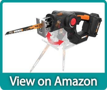 WORX WX550L 2-IN-1 Axis Convertible Jigsaw To Reciprocating Saw
